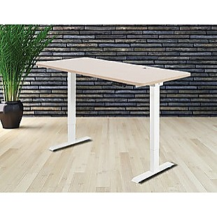 Palermo Standing Desk Sit Stand Height Adjustable Motorised 140cm Table Dual Motor