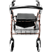 Rollator Walker Walking Frame With Wheels Zimmer Mobility Aids Seat Coffee