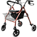 Rollator Walker Walking Frame With Wheels Zimmer Mobility Aids Seat Red
