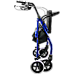 Rollator Walker Walking Frame With Wheels Zimmer Mobility Aids Seat Blue