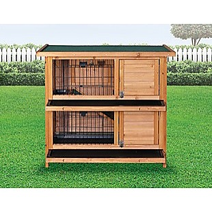 Large Rabbit Hutch with BASE Chicken Coop 2 Storey Guinea Pig Pet Cage House