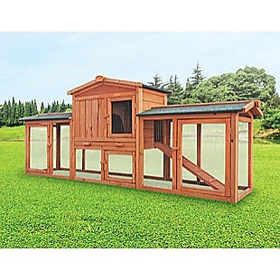 Rabbit Hutch Hutches Large Metal Run Wooden Cage Chicken Coop Guinea Pig