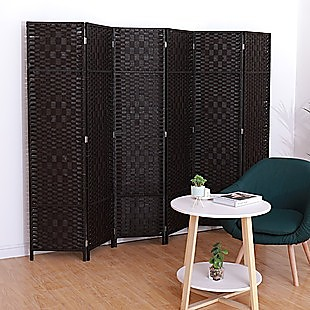 6 Panel Room Divider Screen Privacy Rattan Dividers Stand Fold