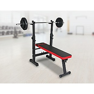 Folding Flat Weight Lifting Bench Body Workout Exercise Machine Home Fitness