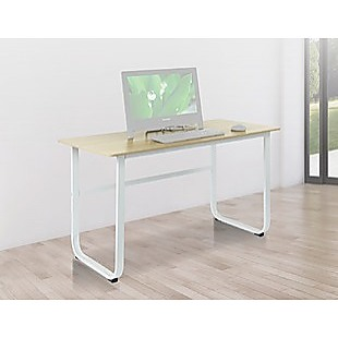 Wood & Steel Solid Computer Desk Home Office Furniture
