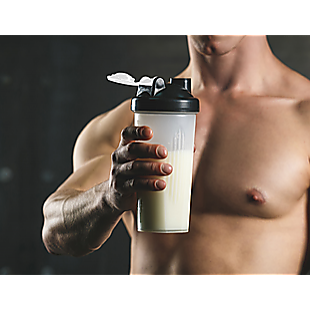 10x 700ml GYM Protein Supplement Drink Blender Mixer Shaker Shake Ball Bottle