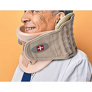 Neck Traction Air Decompression Support Brace Cervical Collar Hand Pump