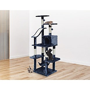171cm Cat Tree Trees Scratching Post Scratcher Tower Condo House - Grey