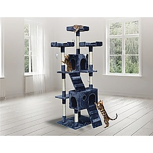 180cm Cat Tree Scratching Post Scratcher Tower Condo House Furniture Wood