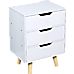Wooden Bedside Table 3 Drawers Cabinet Storage Night Stand