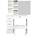 Dressing Table Stool Mirror Jewellery Cabinet Makeup Storage Drawer White
