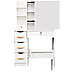 Dressing Table Makeup Table Stool Mirror Makeup Jewellery Organiser Cabinet Desk