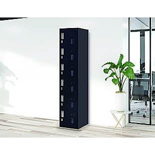 6-Door Locker for Office Gym Shed School Home Storage