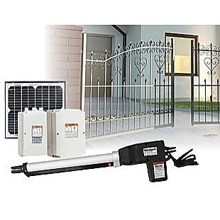 500KG 10W Solar Single Swing Auto Motor Remote Gate Opener