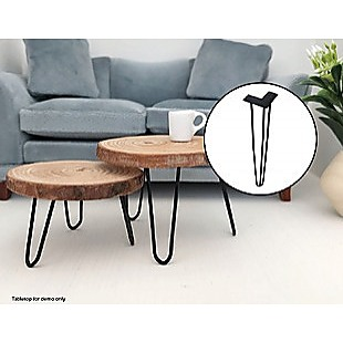 Set of 4 Industrial Retro Hairpin Table Legs 12mm Steel Bench Desk 45cm Leg