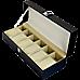 6 Slot Mens Watch Display Case Box Black PU Leather