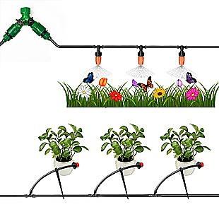 50M Hose Garden Irrigation System Plant Watering DIY Micro Drip Kits
