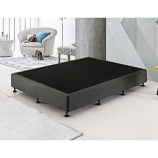 Palermo Queen Ensemble Bed Base Platinum Graphite Linen Fabric