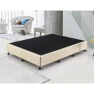 Palermo Queen Ensemble Bed Base Platinum Natural Sand Linen Fabric