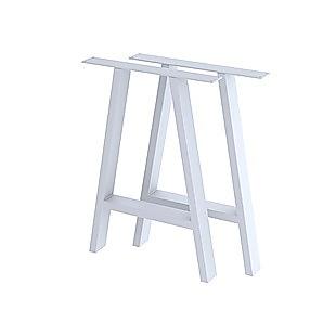 2x Rustic Dining Table Legs Steel Industrial Vintage 71cm - White