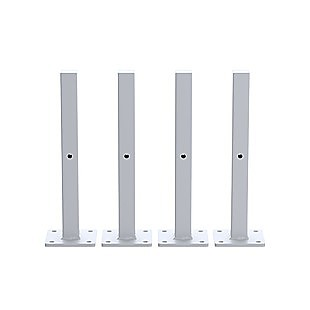 20cm Floating Shelf Brackets Industrial Metal Shelving Supports 4-Pack - White