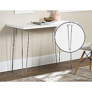 Set of 4 Chrome Retro Hairpin Table Legs 12mm Steel Bench Desk - 71cm