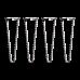 Set of 4 Industrial Retro Hairpin Table Legs 12mm Steel Bench Desk - 41cm Black