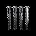 Set of 4 Industrial 3-Rod Retro Hairpin Table Legs 12mm Steel Bench Desk - 71cm Black