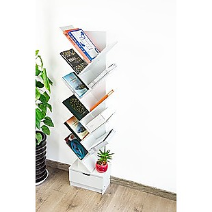 Tree Bookshelf Bookcase Book Organizer 12-Tier Multipurpose Shelf Display Racks