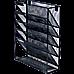 Wall Mount 6 Pocket Hanging File Sorter Organizer Folder Holder Rack Storage