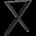 X-Shaped Table Bench Desk Legs Retro Industrial Design Fully Welded - Black