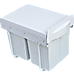 Pull Out Bin Kitchen Double Dual Slide Garbage Rubbish Waste 2X20L