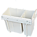Pull Out Bin Kitchen Double Dual Slide Garbage Rubbish Waste 10L+20L