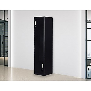 Black Two-Door L-shaped Office Gym Shed Storage Lockers