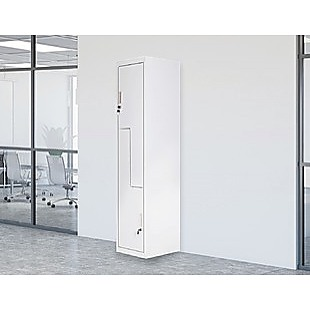 Grey Two-Door L-shaped Office Gym Shed Storage Lockers