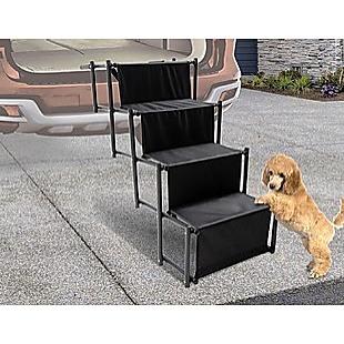 Folding Pet Dog Car Boot Access Steps Ladder Stairs Strong Lightweight