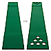 Golf Beer Pong Game Toy Set Green Golf Putting Matt with 2 Putters, 6 Balls