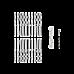 Stainless Steel DIY Rope Balustrade Kit 3.2mm Swage 2 x Lag Screw Term - 10 pack