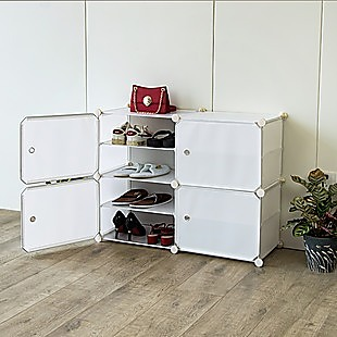 White Cube DIY Shoe Cabinet Rack Storage Portable Stackable Organiser Stand