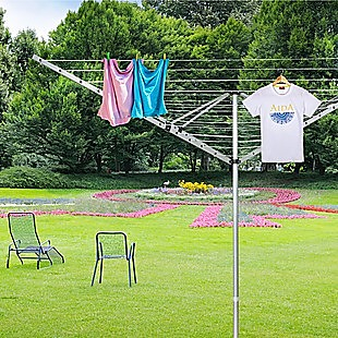 4 Arm Rotary Airer Outdoor Washing Line Clothes Dryer 50m Length