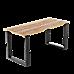 Rectangular-Shaped Table Bench Desk Legs Retro Industrial Design Fully Welded - Black