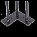 Set of 4 Industrial 3-Rod Retro Hairpin Table Legs 12mm Steel Bench Desk - 11cm Black