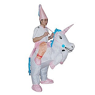 UNICORN Fancy Dress Inflatable Suit -Fan Operated Costume