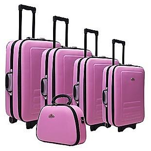 5pc Suitcase Trolley Travel Bag Luggage Set PINK