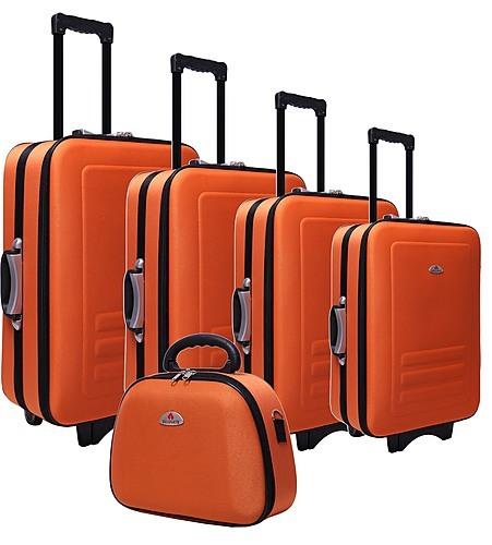 5pc Suitcase Trolley Travel Bag Luggage Set ORANGE - Travel Goods ...