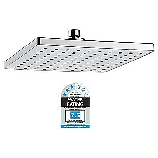 Overhead Rain Shower Head - 230mm Squared Large Chromed