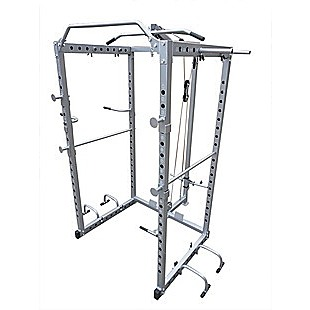 Power Rack Squat Cage Stands w Lat Pulldown Home Gym