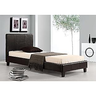 Single PU Leather Bed Frame Black