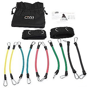 13PC Kinetic Fitness Exercise Resistance Leg Bands Tubes Set