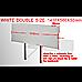 PU Leather Double Bed Headboard Bedhead - White